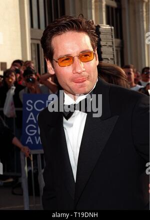 LOS ANGELES, CA - March 8, 1998: 'X-Files' star DAVID DUCHOVNY at the Screen Actors Guild  Awards in Los Angeles. - Stock Photo