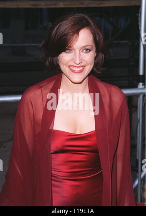 LOS ANGELES, CA - September 8, 2011:  Actress GILLIAN ANDERSON at the world premiere, in Los Angeles, of her new movie 'The X-Files.' - Stock Photo