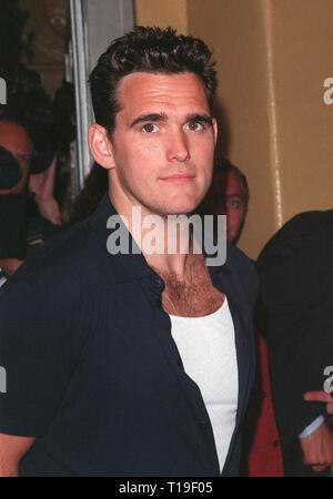 LOS ANGELES, CA - July 9, 1998: Actor MATT DILLON at the world premiere, in Los Angeles, of his new movie 'There's Something About Mary.' - Stock Photo