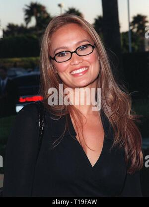 LOS ANGELES, CA - July 30, 1998:  Actress TIA CARRERA at the Hollywood premiere of 'Snake Eyes.' - Stock Photo