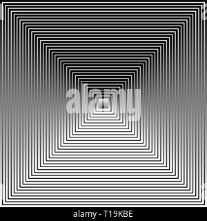 Eps 10 Vector Illustration of Grayscale, Black and White Squares with Gradient Fills Blended, Forming a Pyramid Like Image - Stock Photo