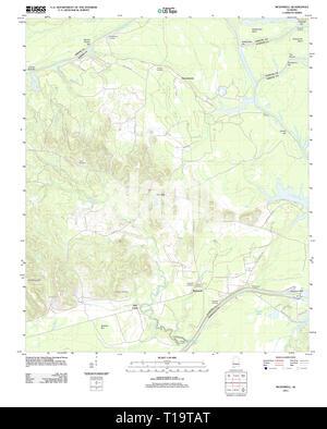 USGS TOPO Map Alabama AL McDowell 20111206 TM - Stock Photo