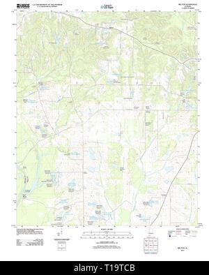 USGS TOPO Map Alabama AL Melton 20111206 TM - Stock Photo