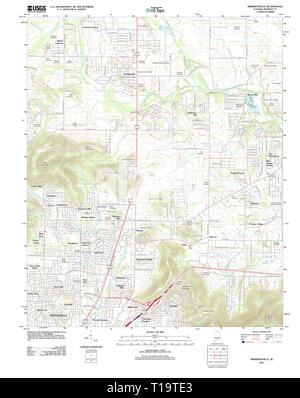 USGS TOPO Map Alabama AL Meridianville 20111206 TM - Stock Photo