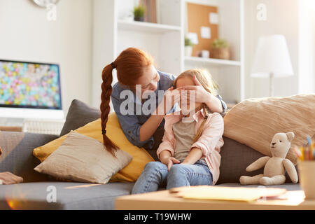 Sisters Playing Peek a boo - Stock Photo