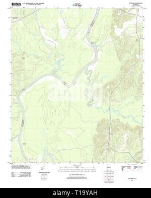 USGS TOPO Map Alabama AL Putnam 20111207 TM - Stock Photo