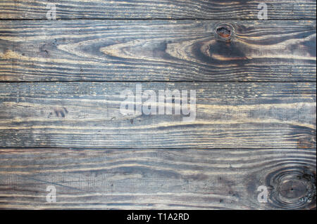 Distressed  wooden texture background / backdrop. Image shot from top in overhead view. - Stock Photo