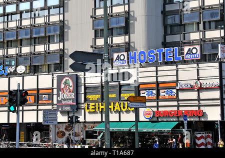AO hostel am Zoo Joachimstaler Strasse, Berlin, Germany - Stock Photo