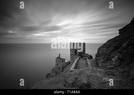 Botallack is a village in west Cornwall, United Kingdom. The village is in a former tin mining area situated between the town of St Just in Penwith an - Stock Photo