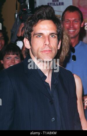 LOS ANGELES, CA - July 9, 1998: Actor BEN STILLER at the world premiere, in Los Angeles, of his new movie 'There's Something About Mary.' - Stock Photo