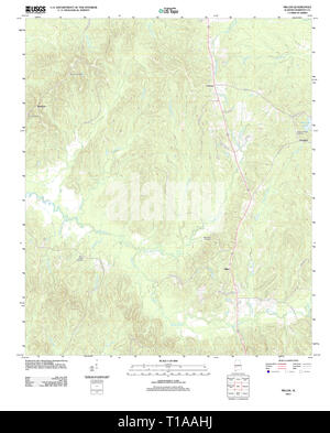 USGS TOPO Map Alabama AL Miller 20111212 TM - Stock Photo