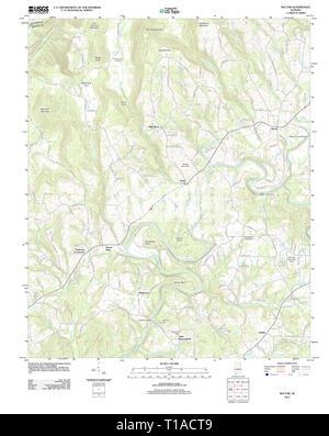 USGS TOPO Map Alabama AL Nectar 20111206 TM - Stock Photo