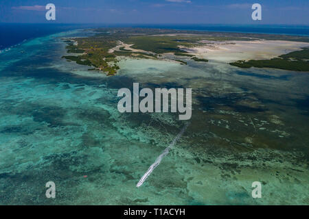 Olango Island situated off Mactan Island Cebu, a protected Ramsar site. The sanctaury supports one of the largest concentration of migratory birds in  - Stock Photo