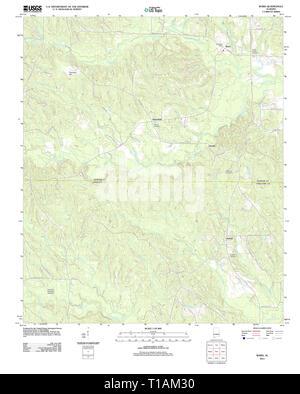 USGS TOPO Map Alabama AL Ward 20111207 TM - Stock Photo