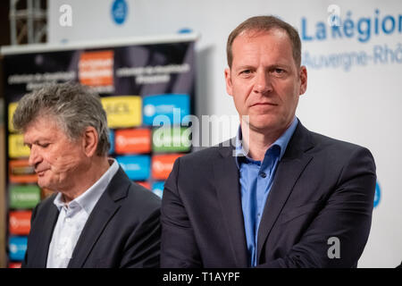 Lyon, France. 25th March, 2019. Christian Prudhomme director of the Tour de France Credit: FRANCK CHAPOLARD/Alamy Live News - Stock Photo