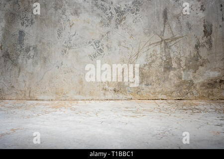 grunge concrete studio room background with light.mock up space for display of product or design. - Stock Photo