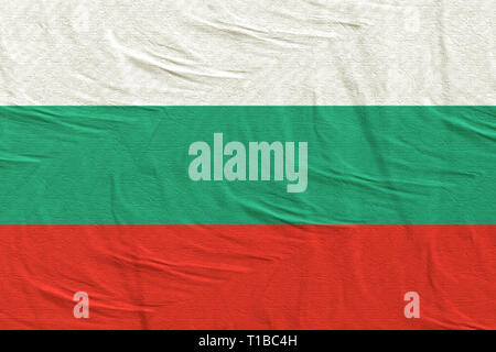 3d rendering of a Bulgaria flag - Stock Photo