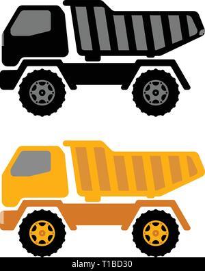 dumper truck illustration - vector - Stock Photo