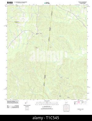 USGS TOPO Map Alabama AL Yantley 20111213 TM - Stock Photo
