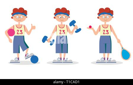 sport ball racket boy - Stock Photo