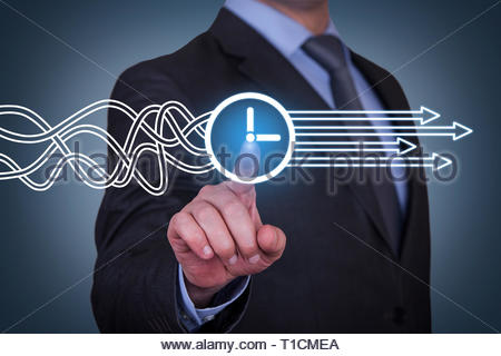 Time Solution Concepts on Visual Screen - Stock Photo