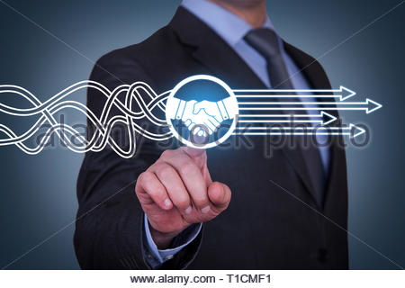 Agreement Solution Concepts on Visual Screen - Stock Photo