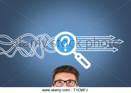 Research Solution Concepts on Visual Screen - Stock Photo