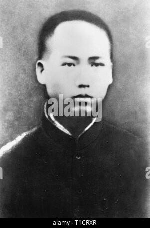 Mao Zedong in 1913. Mao Zedong (1893 – 1976), Chairman Mao, Chinese communist revolutionary who became the founding father of the People's Republic of China, which he ruled as the Chairman of the Communist Party of China from its establishment in 1949 until his death in 1976. - Stock Photo