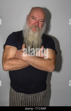 My old hippy father - Stock Photo