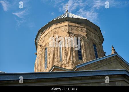 Pictures & images of the Eastern Orthodox Georgian Samtavro Transfiguration Church and Nunnery of St. Nino in Mtskheta, Georgia. A UNESCO World Herita - Stock Photo