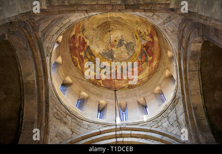 Pictures & images of the interior cupola fresco depicting Christ Pantocrator. The Eastern Orthodox Georgian Svetitskhoveli Cathedral (Cathedral of the - Stock Photo