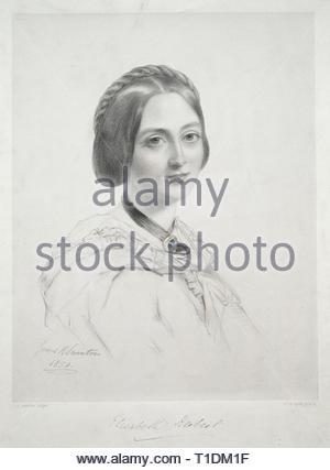 Lady Elizabeth Herbert. Richard James Lane (British, 1800-1872). Lithograph, hand colored. - Stock Photo