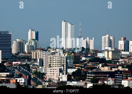 Skyline of the city of Cuiaba in Mato Grosso Brazil