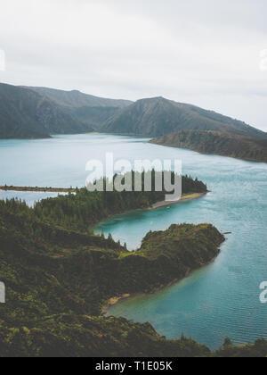 lagoa do fogo açores são miguel - Stock Photo