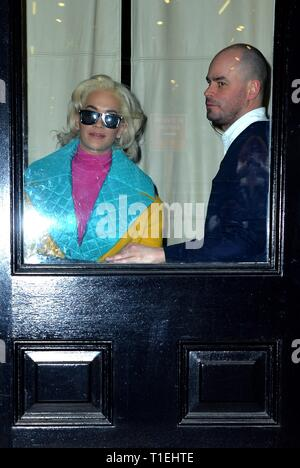 New York, NY, USA. 25th Mar, 2019. Rita Ora out and about for Celebrity Candids - MON, New York, NY March 25, 2019. Credit: Kristin Callahan/Everett Collection/Alamy Live News - Stock Photo