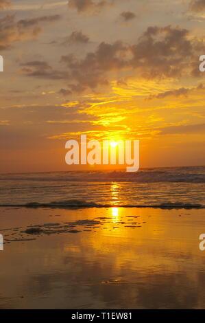 Sunrise over the Atlantic Ocean. Huntington Beach State Park, South Carolina, USA - Stock Photo