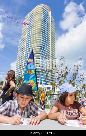 Miami Beach Florida Condominium Hispanic Man Building