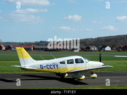 Piper PA-28-161 Warrior II (G-CCYY) at Wellesbourne Airfield, Warwickshire, UK - Stock Photo