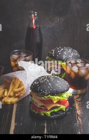 Burgers set - Stock Photo