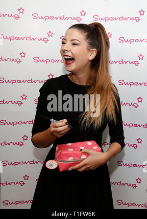 Vlogger and internet personality Zoe Suggs aka Zoella meets fans at Superdrug's store in Churchill Square in Brighton 30 October 2014 - Stock Photo