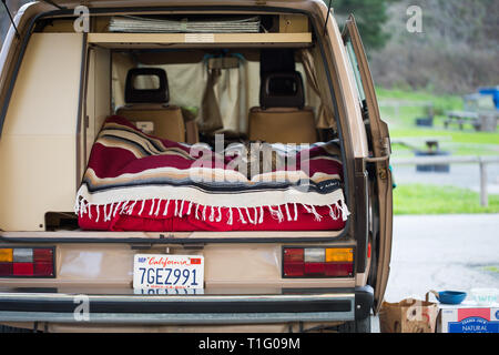 Road trip and Camping in Northern CA - Stock Photo