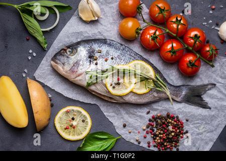 Raw fresh fish - Stock Photo
