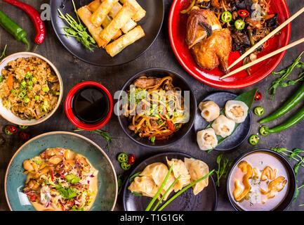 Chinese food blank background - Stock Photo
