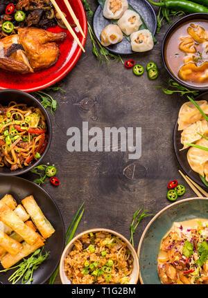 Chinese food background - Stock Photo