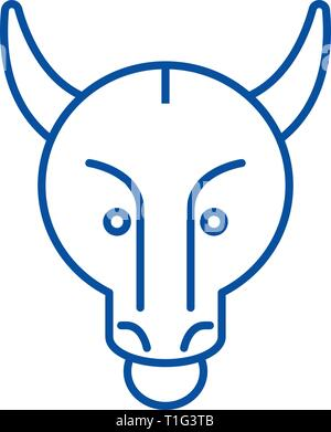 Bullish trend line icon concept. Bullish trend flat  vector symbol, sign, outline illustration. - Stock Photo