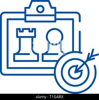 Business model generation line icon concept. Business model generation flat  vector symbol, sign, outline illustration. - Stock Photo