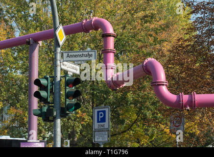 17.10.2018, Berlin, Berlin, Germany - Above-ground drainage pipes from construction sites in Berlin-Mitte. 0CE181017D005CAROEX.JPG [MODEL RELEASE: NO, - Stock Photo