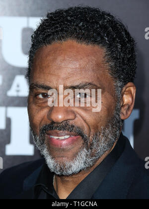 LOS ANGELES, CA, USA - MARCH 22: Richard Lawson arrives at The Broad Museum 'Soul of a Nation: Art in the Age of Black Power 1963-1983' Art Exhibition Opening Event held at The Broad on March 22, 2019 in Los Angeles, California, United States. (Photo by Xavier Collin/Image Press Agency) - Stock Photo