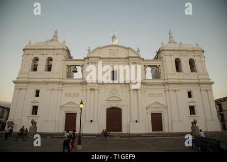 Basilica Catedral La Asuncion, Ciudad de Leon, Nicaragua - Stock Photo