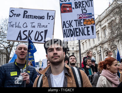 One million people marched through London on Peoples Vote anti-Brexit  protest 23 March 2019 - Stock Photo